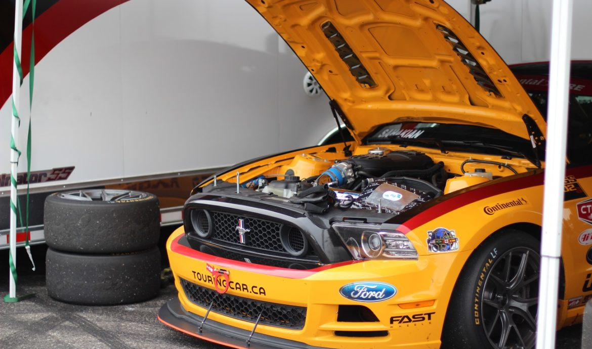 Track prepped Mustang